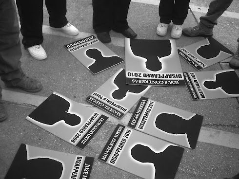 Congress of Day Laborers with Names of the Missing Immigrants at Their Feet
