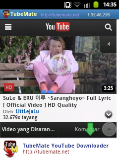 Download Video Youtube di Android 4