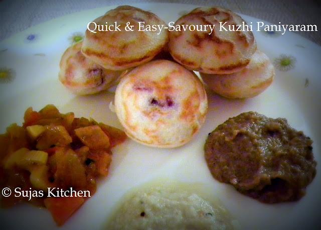 Easy Chettinaad kaara Kuzhi Paniyaram