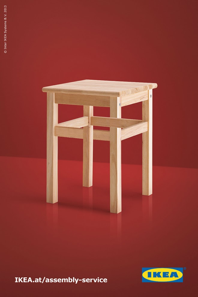 Muebles de IKEA imposibles, taburete