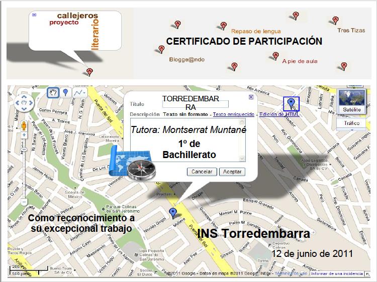 Participación  Callejeros literarios 2011-2012