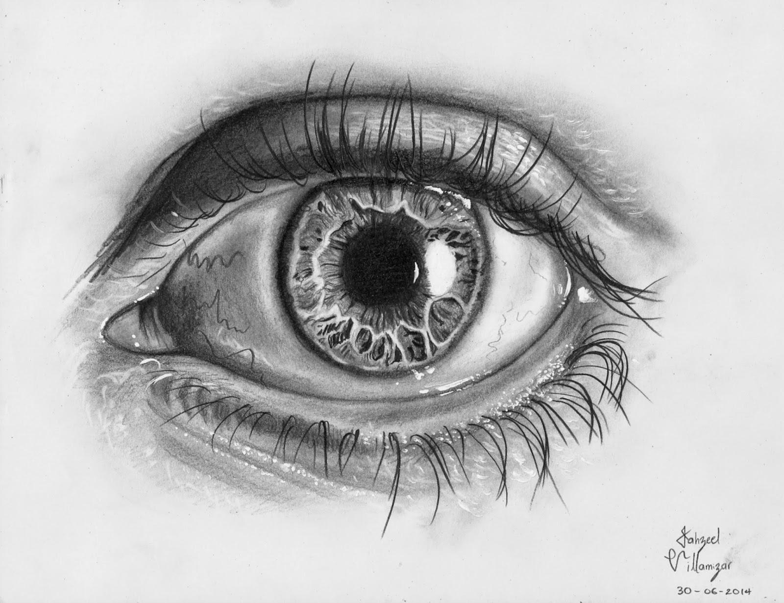 Dibujo con Lapiz Como dibujar un ojo realista video paso a paso