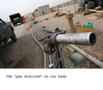 gas station on base in Iraq