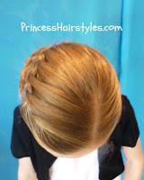 waterfall braid hairstyle top view