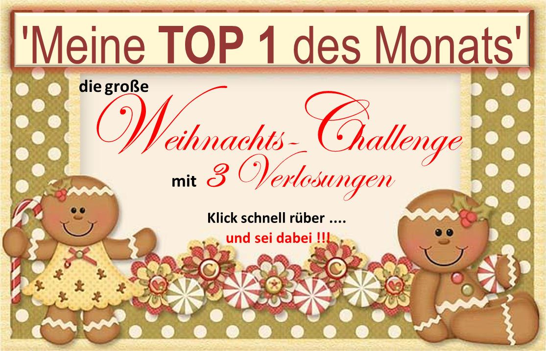 Weihnachts- Challenge bei Stempeldgaudi - schaut doch mal vorbei!