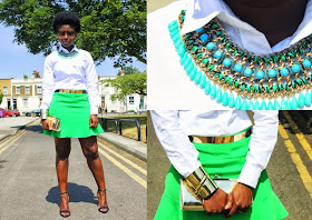 OOTD: Peplum Hem Mini Skirt