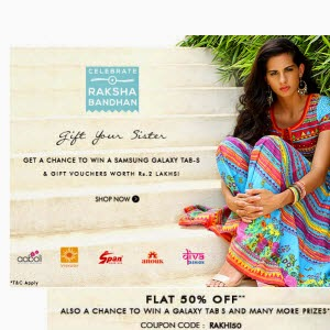 Myntra : Clothing upto 50% off + 50% off from Rs. 157
