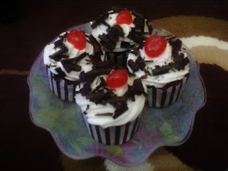 resep cup cake blackforest