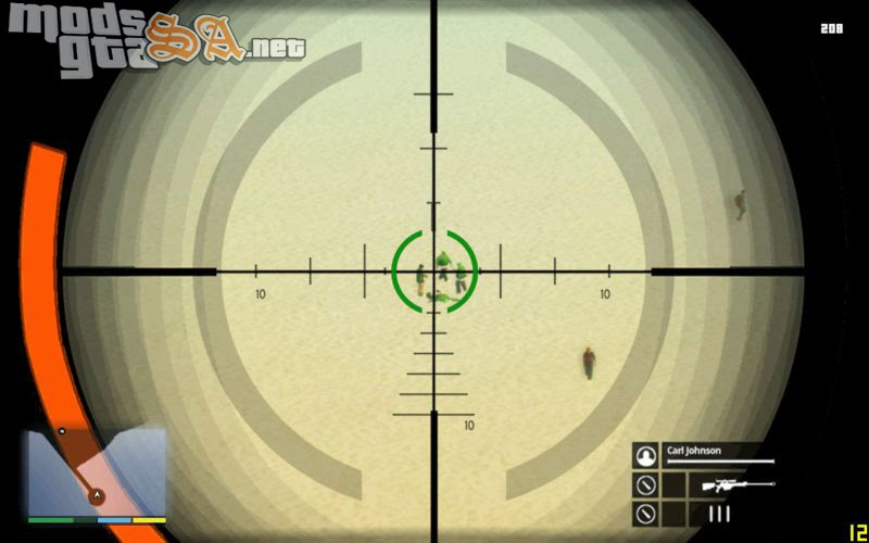 SA - Nova Mira do Sniper do GTA V + HUD v1 + Bonus