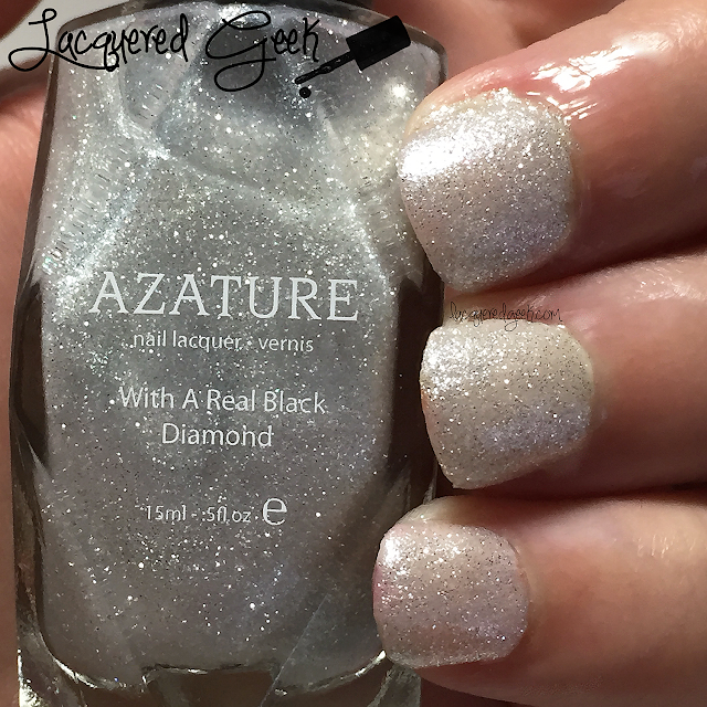 Azature: White nail polish swatch and review by Lacquered Geek