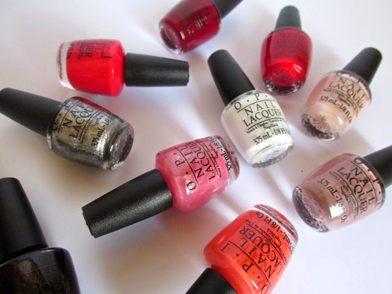 OPI trend on ten nail varnishes review