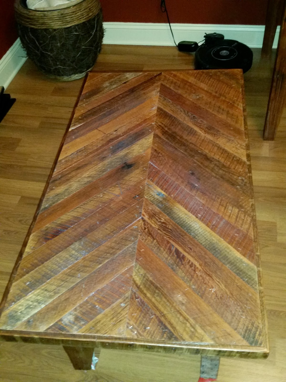 Coffee Table From Reclaimed Pine Taken From An Old Home In New Orleans.  Reproducible For $450.