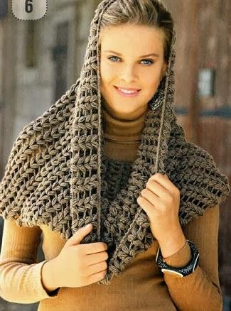 Bufanda Circular a Crochet con patrón. *****************************. ***************************