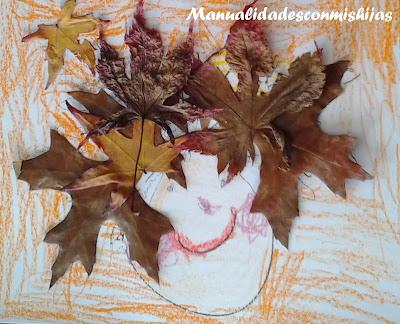Pelo con hojas de otoño