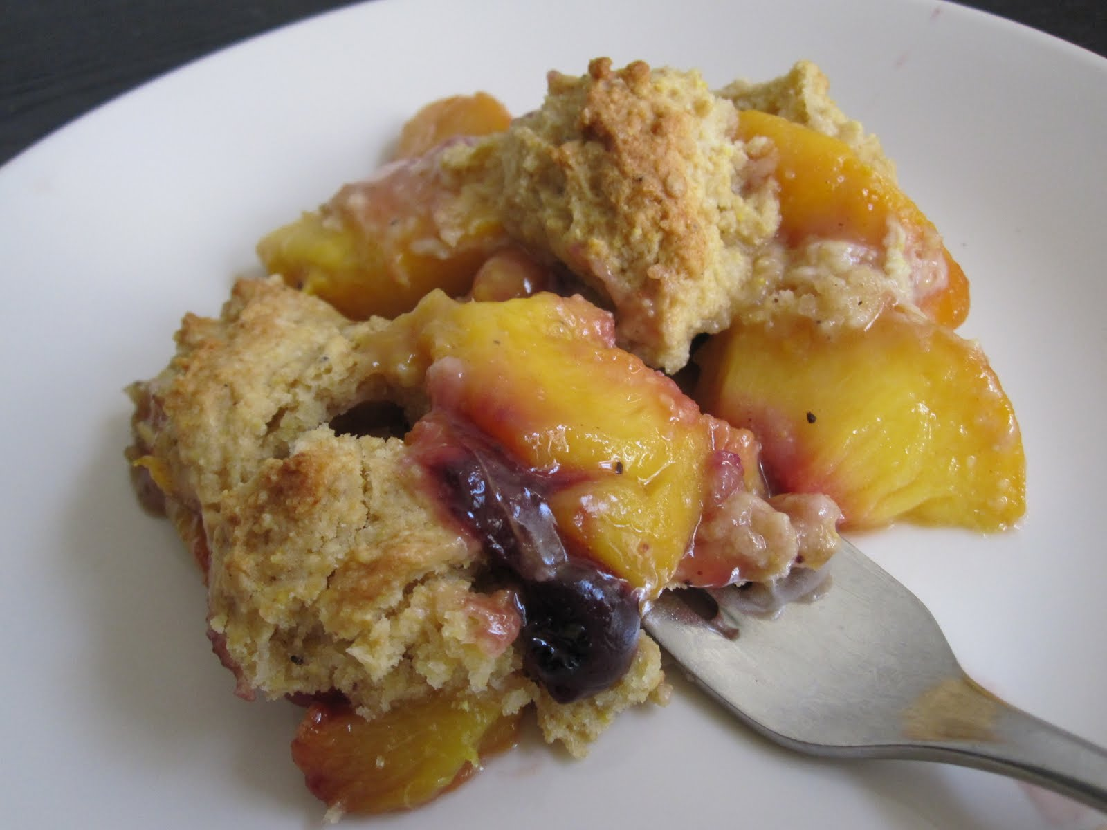 Umami Bomb: Peach and Blueberry Cobbler