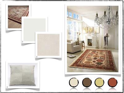tapete persa na decoração