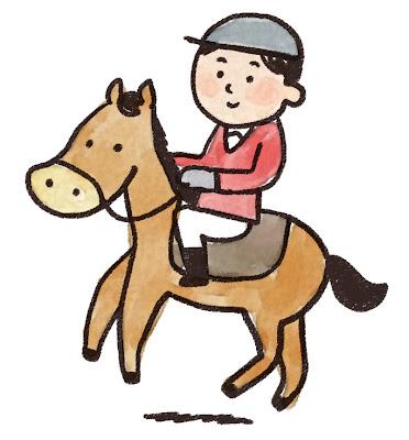 乗馬をしている選手のイラスト(スポーツ)