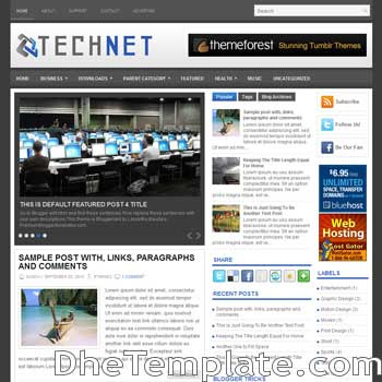 TechNet blog template. magazine blogger template style. magazine style template blogspot. 3 column blogspot template