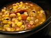 Indian-Spiced Black-Eyed Pea Soup with Corn and Dill
