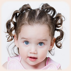 Picture of Beautiful little baby girl with new hair style