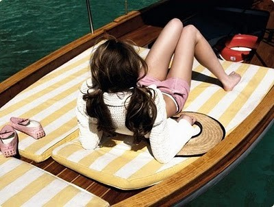 girl on boat