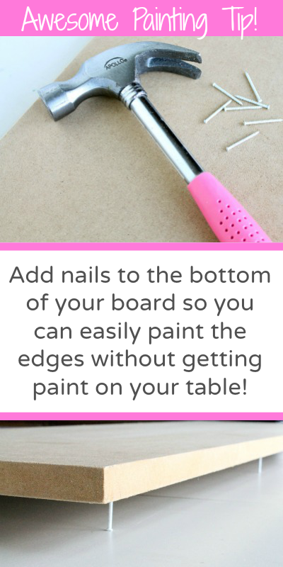 AWESOME PAINTING TIP! Learn how to easily paint around edges without getting paint on your table!