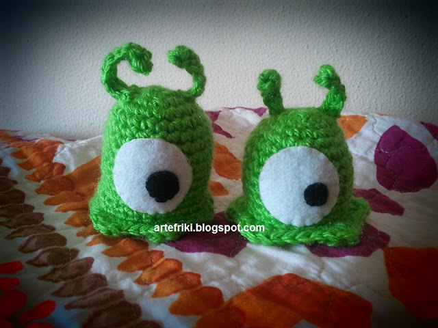 babosa cerebral amigurumi futurama brain slug crochet ganchillo