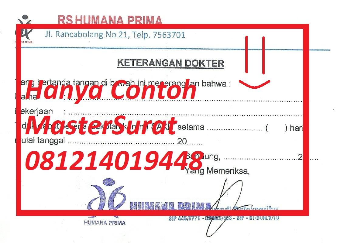 Mastersurat Sakit Surat Sakit Daerah Bandung