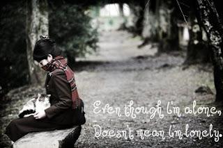 i am alone sad quote