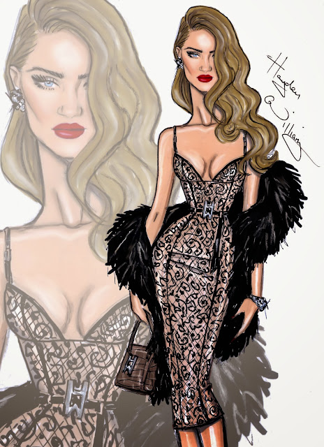 Hayden Williams Fashion Illustration Rosie Huntington Whitely