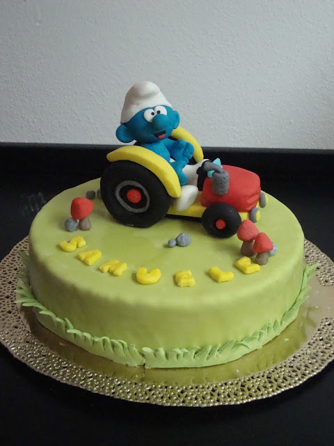 Smurf's cake