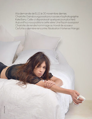 Magazine Photoshoot : Charlotte Gainsbourg Photoshot For Kate Barry Elle Magazine France January 2014 Issue