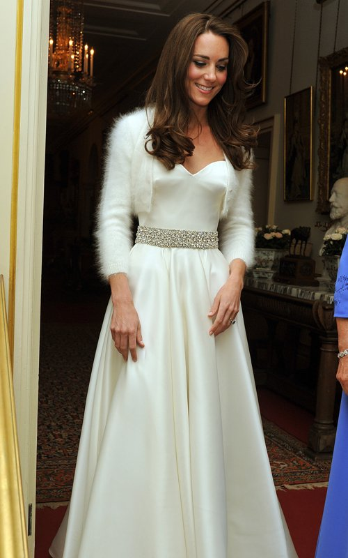 Kate Middleton Is Fabulous In 2nd Dress – Royal Reception Photos!