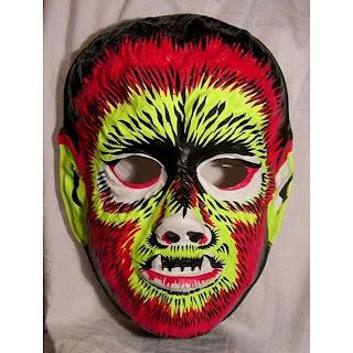 mascara del hombre lobo para el día de brujas
