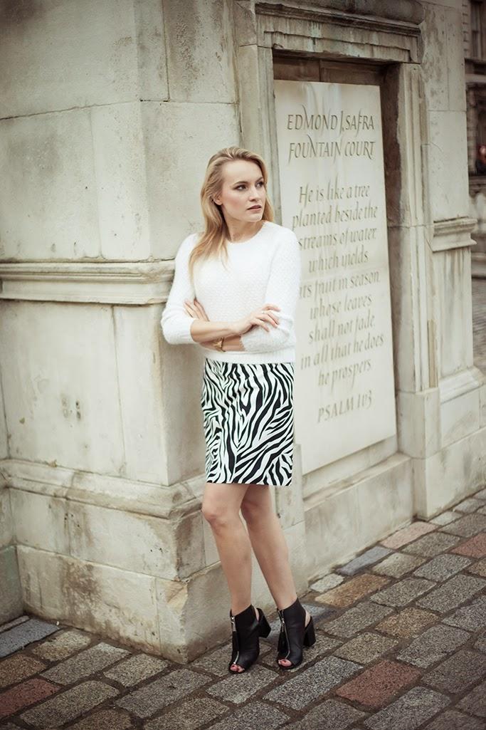 Rodarte zebra skirt Shopbop.com