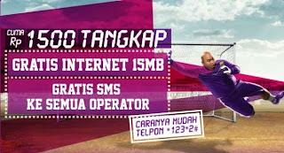 Paket Internet dan SMS 1500