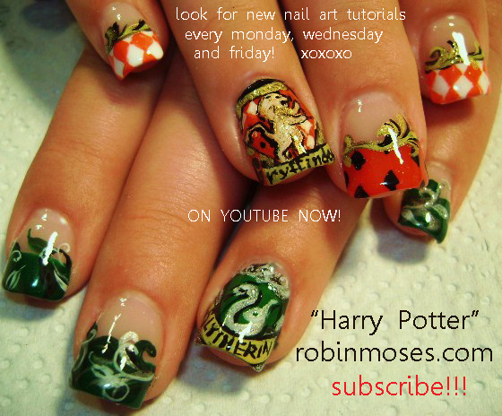 Harry Potter Nail Art Design Red And Black Picnic Tablecloth With