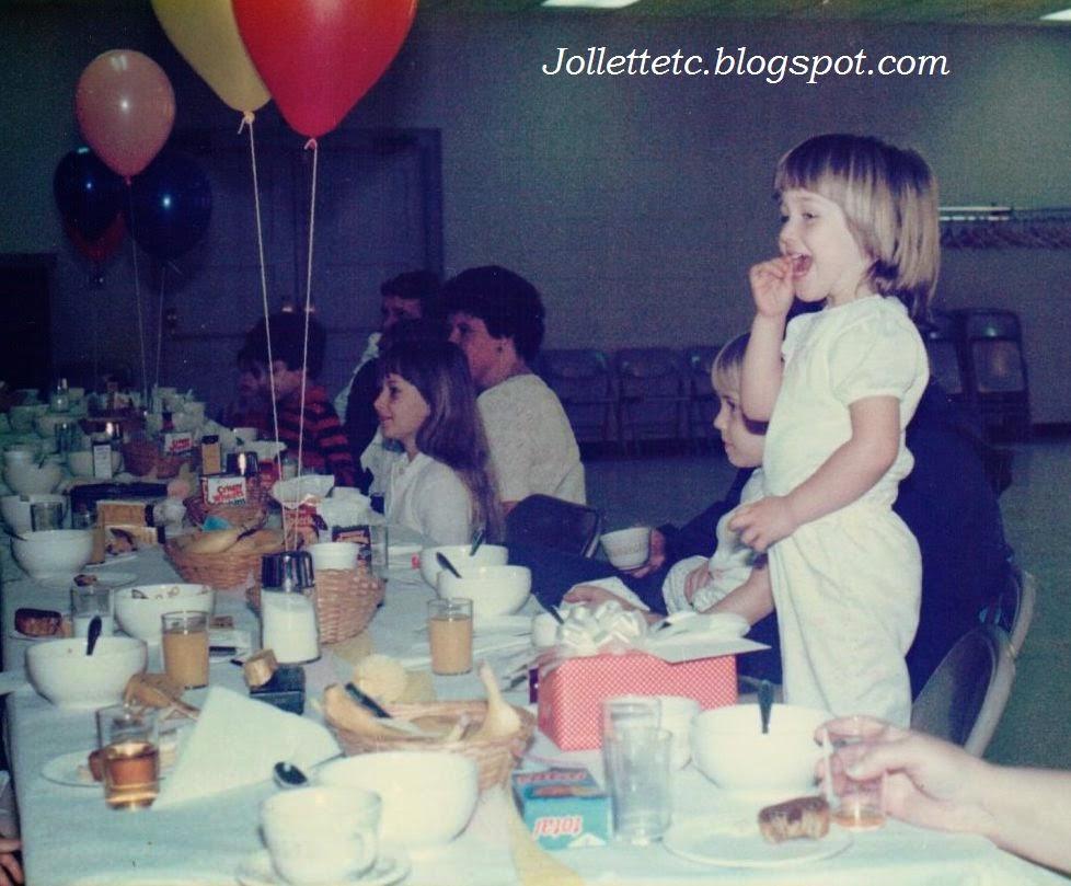 Bunny Breakfast Cradock UMC 1986  http://jollettetc.blogspot.com