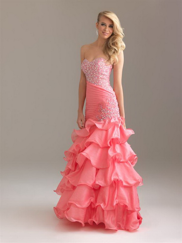 Homecoming Long Strapless Sweetheart Mermaid Prom Dress