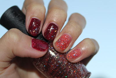 Hollywood girl RED POWER! Red and Glitters Polish