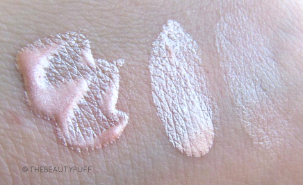 kismet cosmetics lovely illuminator rosy swatch - the beauty puff