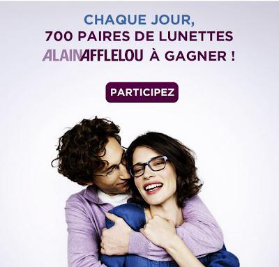 Jeux concours Alain Afflelou 700 paires de lunette / jour à gagner Mademoiselle Bons Plans