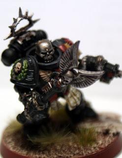 Kit bashed Black Templar Chaplain
