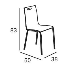 Medidas de la silla POLA
