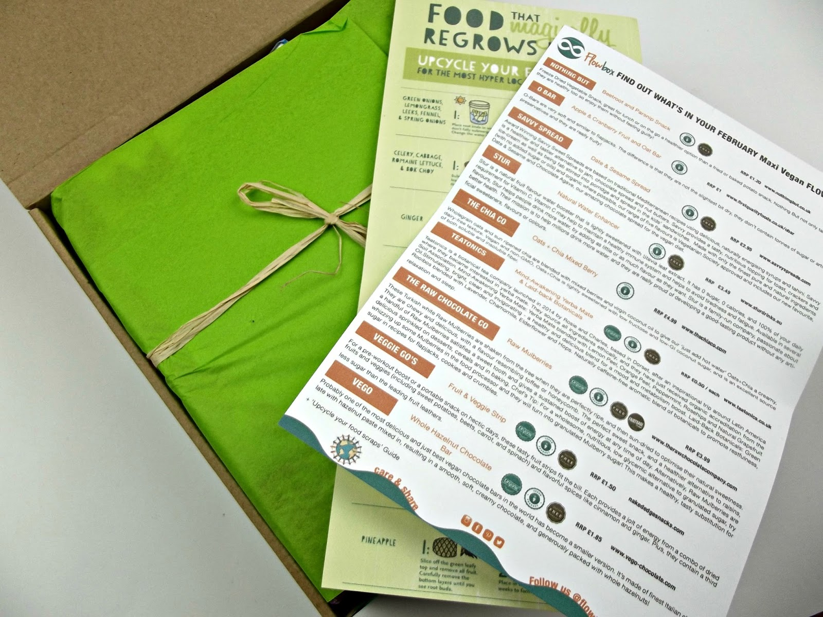 The Flowbox - maxi vegan box review