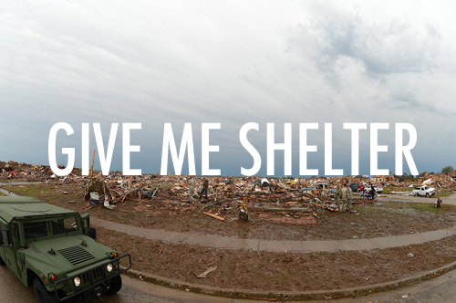 Give Me Shelter // How to make a Tornado bunker as explained by other people.