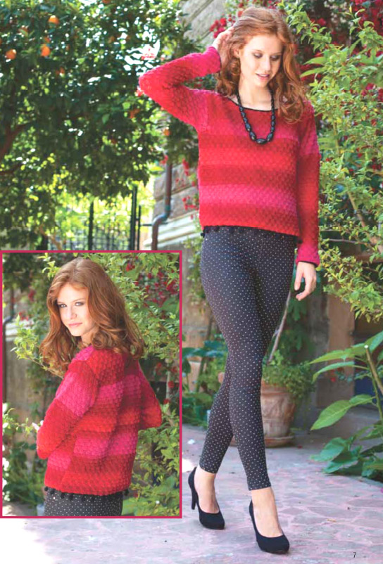 Вяжем свободный пуловер. Free sweater - Crochet