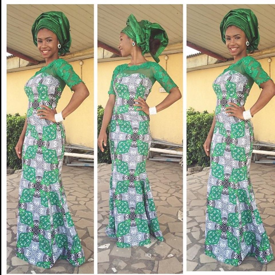 Green Long Gown Ankara Styles Dezango Fashion Zone