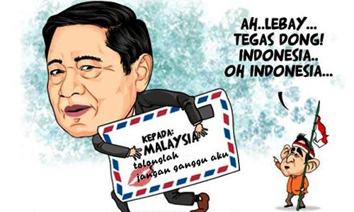 Foto SBY : Karikatur Malaysia