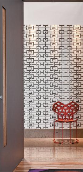 Hall de entrada casa com moda - Papel pared entrada ...